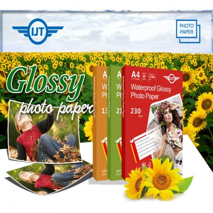 IJT GP135 Waterproof Glossy Photo Paper A4 Size 135g 135gsm (Each Pack 100 Sheets)