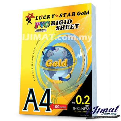 Lucky Star PVC Cover A4 / Rigid Sheet A4 / Transparent Cover A4 / Binding Cover A4 / Plastic Cover A4 PVC Cover Transparent Rigid Sheet For Presentation Assignment Project (100sheets in 1 Pack)