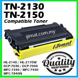 Brother TN-2150 / TN-2130 / TN2150 / TN2130 Compatible High Quality Toner Cartridge For Brother DCP7030 DCP7040 DCP7045N / MFC7320 MFC7340 MFC7450 MFC7440N MFC7840N MFC7840W / HL2140 / HL2150N / HL2170W Printer Toner