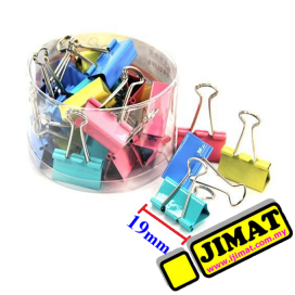 Colour Binder Clip 19mm (40pcs/box)