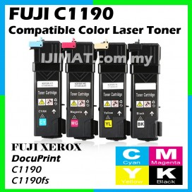 Fuji Xerox C1190 / C1190FS High Quality Compatible Colour Laser Toner CT201260 Black / CT201261 Cyan / CT201262 Magenta / CT201263 Yellow Printer Ink
