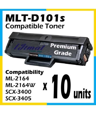 Samsung MLT-D101S / MLT101S Toner Cartridge For Samsung ML2161 ML2160 ML2164 ML2164W ML2165 ML2166W ML2165W SCX3400 SCX3401 SCX3405 SCX3406 SCX3407 SCX3401FH SCX3405W SCX3405FW SCX3406W SCX3406HW SF761 SF761P SF760P Printer Toner