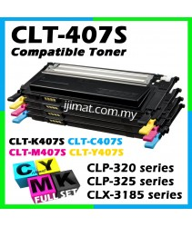 Samsung 407 / CLT-K407S + CLT-C407S + CLT-M407S + CLT-Y407S Compatible High Quality Colour Laser Toner Cartridge (Full Set 4 Units) For Samsung CLP - 320 / 320N / 321N / 325 / 325W / 326, CLX - 3180 / 3185 / 3185N / 3185FN / 3185FW Printer Toner
