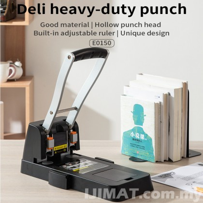 Deli 0150 Two Holes Heavy Duty Punch 150 sheets Thickened Drilling Machine / Puncher