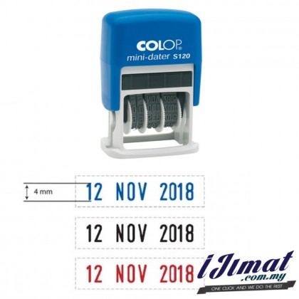 COLOP S120 Self-Inking Date Stamp (4mm)