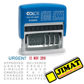 COLOP S120/WD Self-Inking Date Stamp With Text Adjust (4mm)