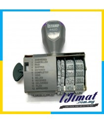 iSTAMP 4420 Dial-a-Phrase Dater Stamp / Date Chop / Date Stamp With Adjustable Date & Word ANSWERED / CANCELLED / PAID / SHIPPED / ENTERED / COMPLETED / VOID / BILLED / RECEIVED / DELIVERED / FILED / APPROVED