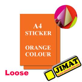 A4 Fluorescent Orange Colour Sticker
