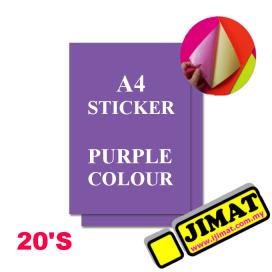 A4 Fluorescent Purple Colour Sticker (20's)