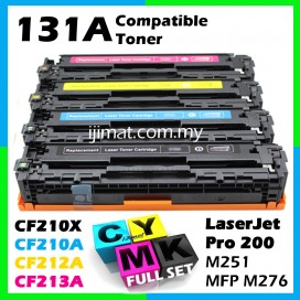 HP 131A / CF210A + CF211A + CF212A + CF213A High Quality Toner Cartridge (1 Set 4 Unit) For HP LaserJet Pro 200 Color M251n / M251nw / MFP M276n / MFP M276nw Printer