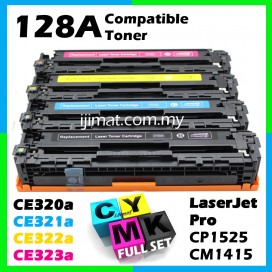 HP 128A / CE320A + CE321A + CE322A + CE323A High Quality Colour Toner Cartridge (1 Set 4 Unit) For HP LaserJet Pro CP1525n / CP1525nw / CM1415fn / CM1415fnw Printer Toner