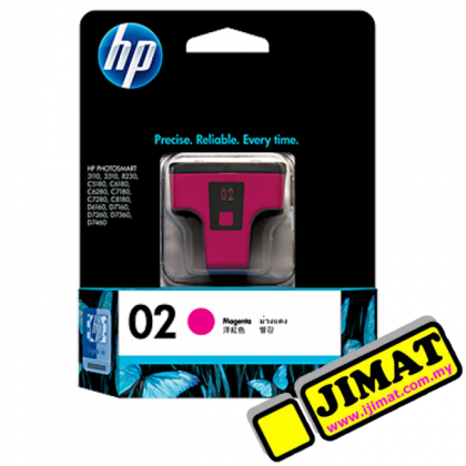 HP 02 Ink Cartridge (5 Colour Options)