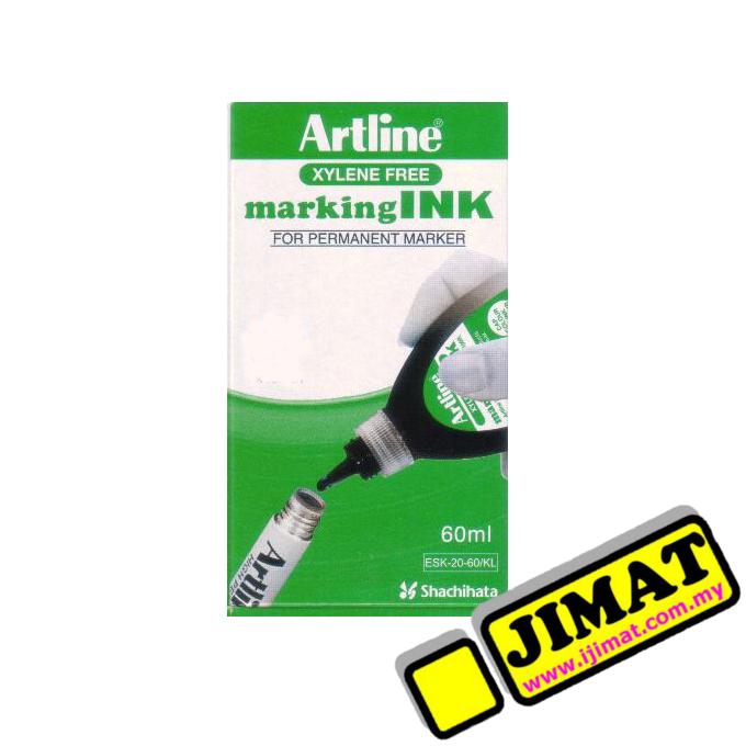 Artline Permanent Marking Ink 60ml Black