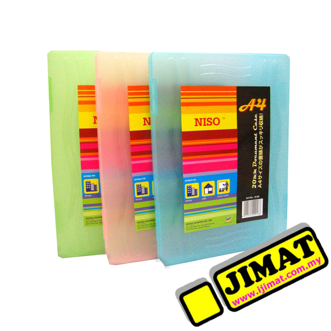 Niso A4 Plastic Document Case 20mm